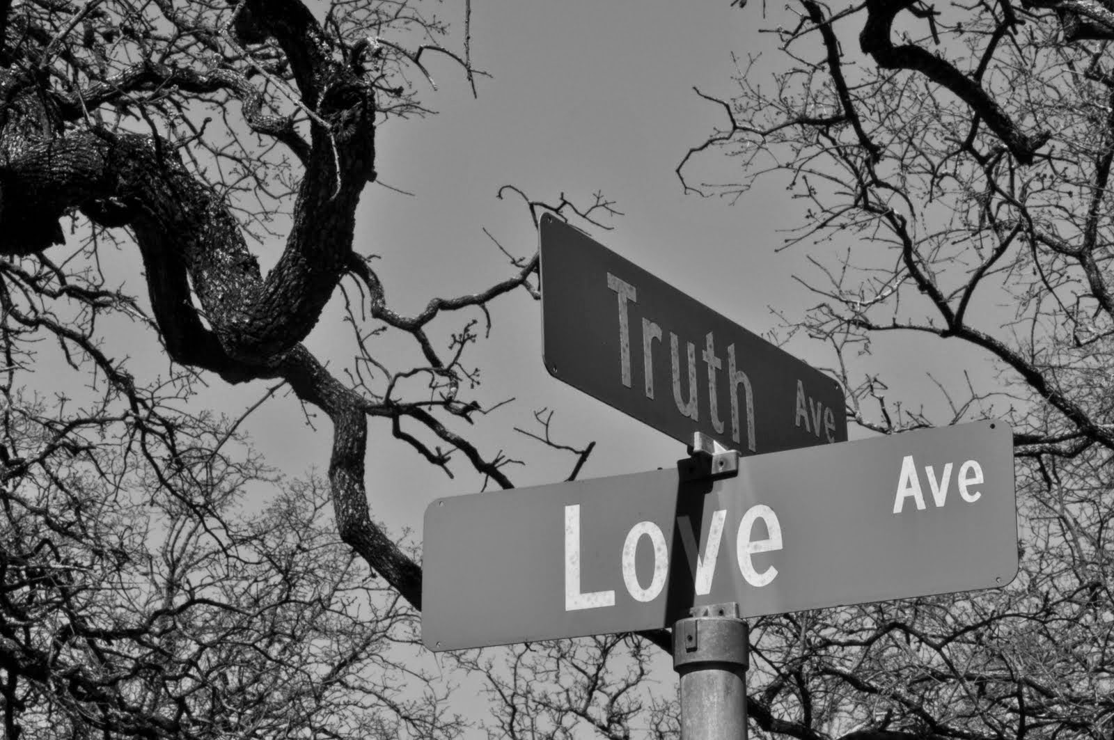 Corner of Truth & Love Ave