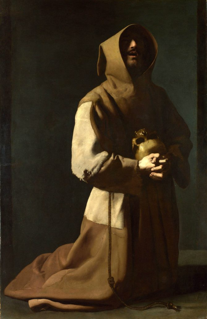 saintfrancisinmeditationfranciscodezurbaran