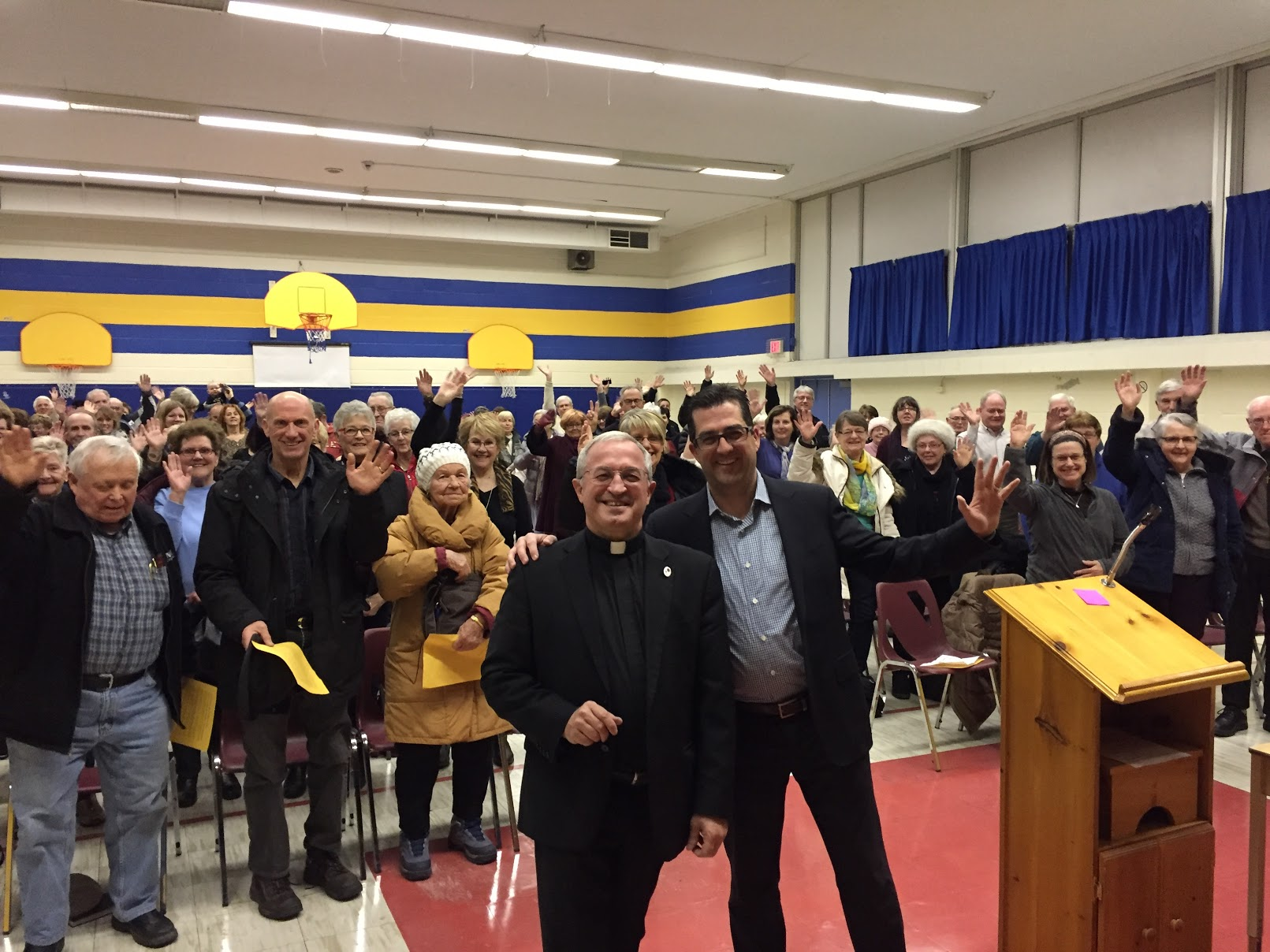 At the Homecoming event at St Mary's (with Fr. Tom Lynch)